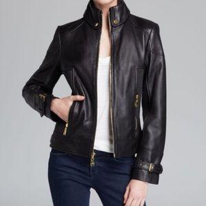 Via Spiga Black 100% Lamb Leather Jacket